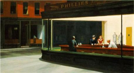 Nighthawks (1942). The Art Institute of Chicago.