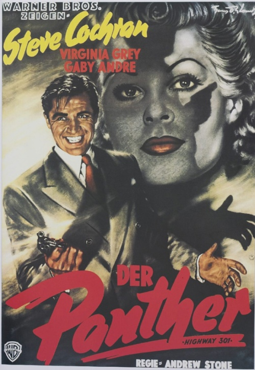 The demonic protaganist features in this German poster for Highway 301